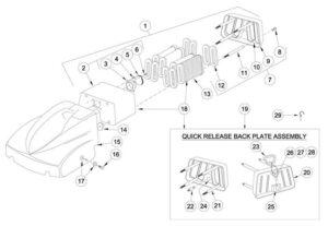 Aqua Vac KingShark 2/KingShark 2 Plus (Aqua King LP/Aqua King Commander) Commercial Pool Cleaner Replacement Parts - Filter & Hood Assembly Parts