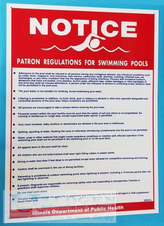 Public Safety Signs for Pools & Spas | Halogen Supply