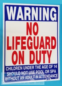Public Safety Signs for Pools & Spas
