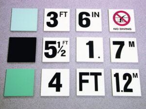 Depth & Safety Marker Tile & Ceramic Pool Tiles