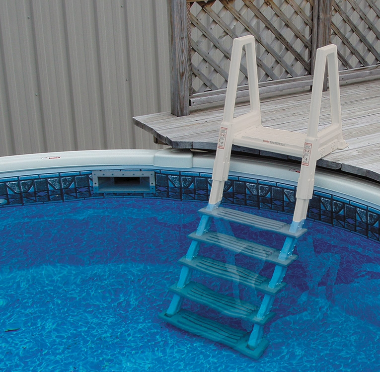 Heavy duty inpool ladder for 48 inch in to 53 inch in for Above ground pool equipment