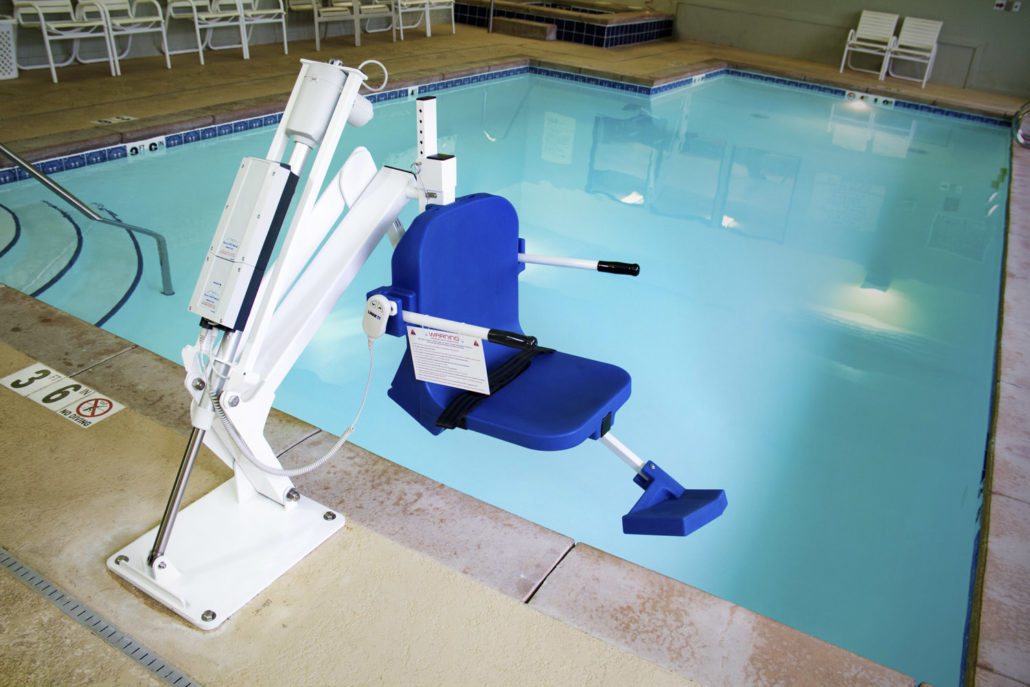 Aqua creek pro pool lift battery powered with anchor - Swimming pool wheelchair lift law ...