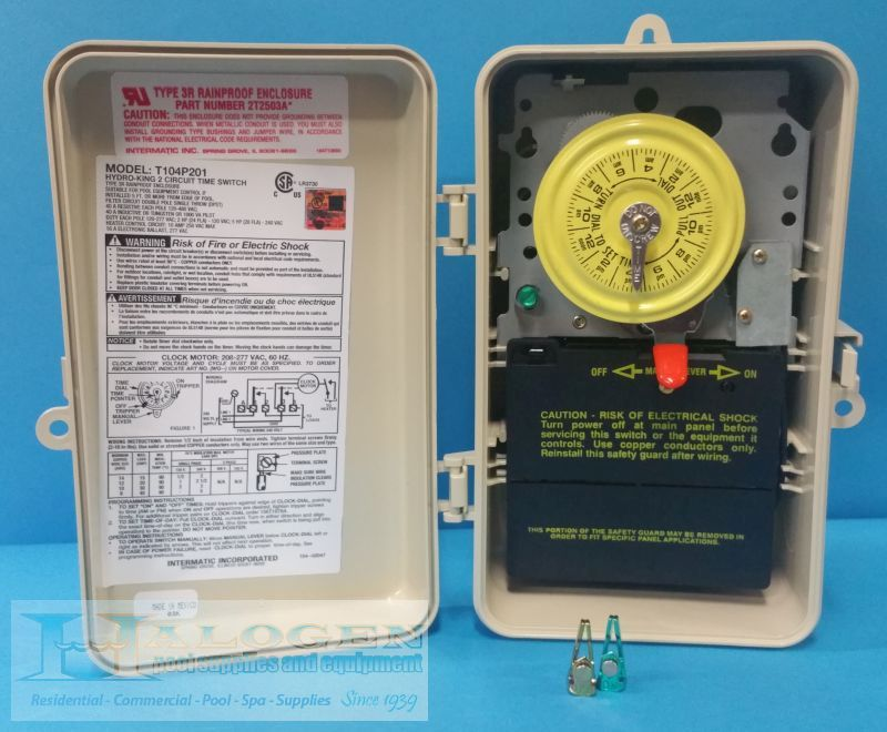 Intermatic Dpst 220 Volt Mechanical Time Switch With