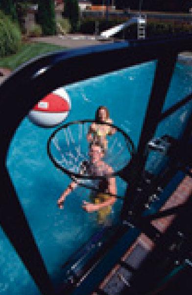 Single Post Swim N' Dunk Basketball Games