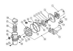 Pentair Challenger High Pressure Inground Pool Pump Replacement Parts