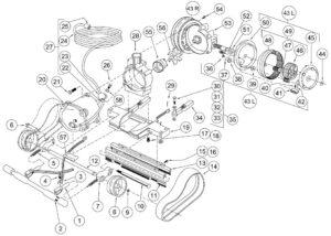 Aqua Vac KingShark (Aqua Prince) Commercial Pool Cleaner Replacement Parts - Chassis Parts