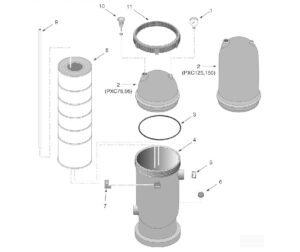 Sta-Rite Posi-Clear PXC Series Pool/Spa Cartridge Filter Replacement Parts