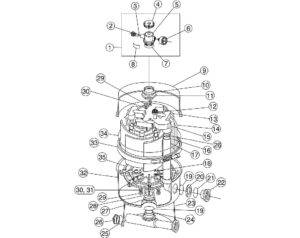 Pac-Fab Nautilus Plus Diatomaceous Earth (D.E.) Pool Filter Replacement Parts