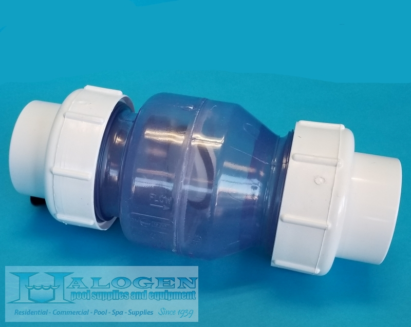 "1-1/2 Inch (in) SOC x SOC ""Smart"" Swing Check Valve Double Union Clear Body  Full Flow by American Granby"
